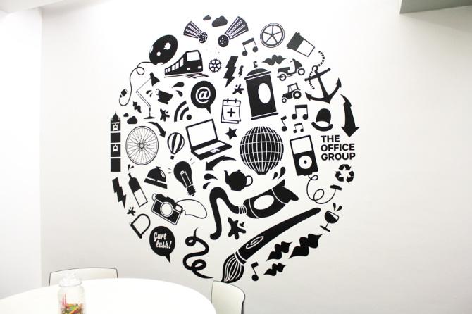 Vinyl mural wall design