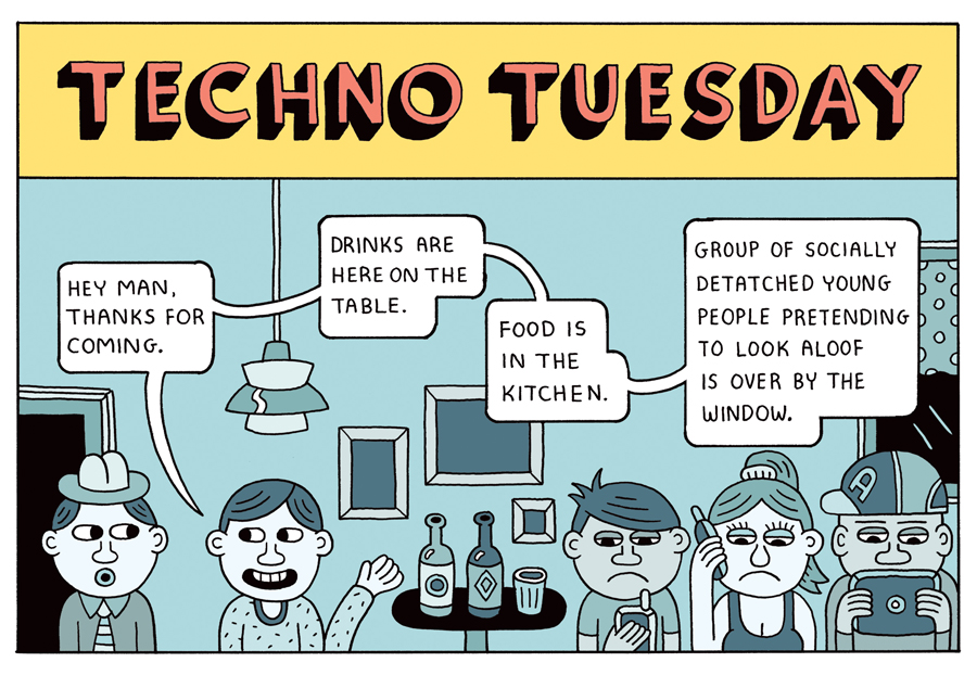 Andy Rementer Techno Tuesday