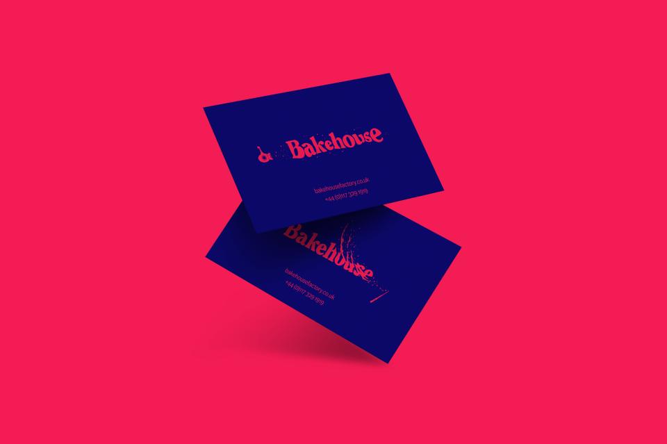 Bakehouse branding business cards