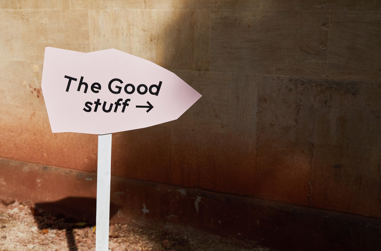 Signage design for Something Good design festival by Fiasco Design
