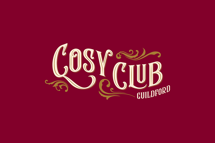 Restaurant branding Cosy Club Guildford branding by Fiasco Design