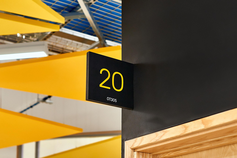 future space interior signage by Fiasco Design