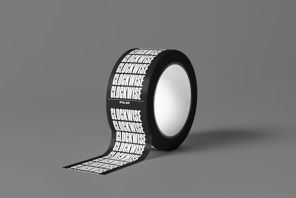 Clockwise branded tape designed by Fiasco Design