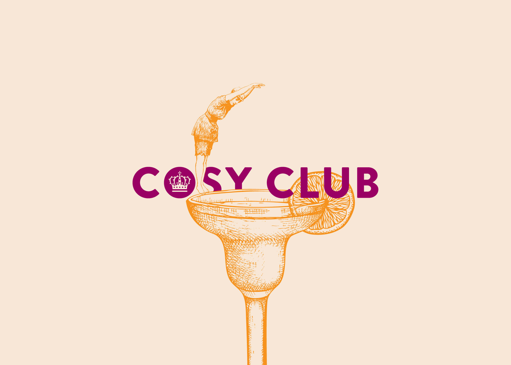 Quirky and playful illustrations for Cosy Club by Fiasco Design