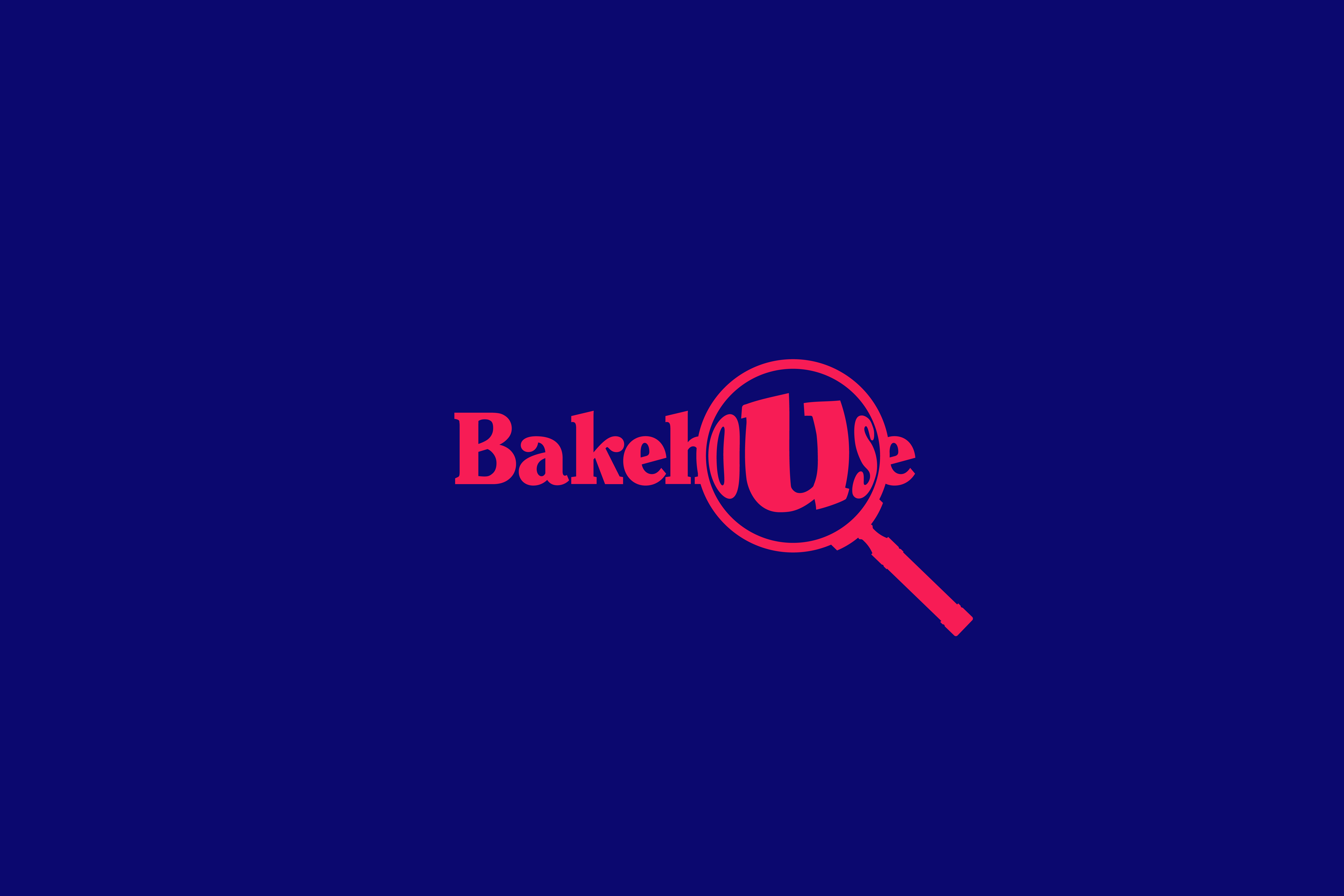 animated bakehouse logo – magnify glass version – by fiasco design