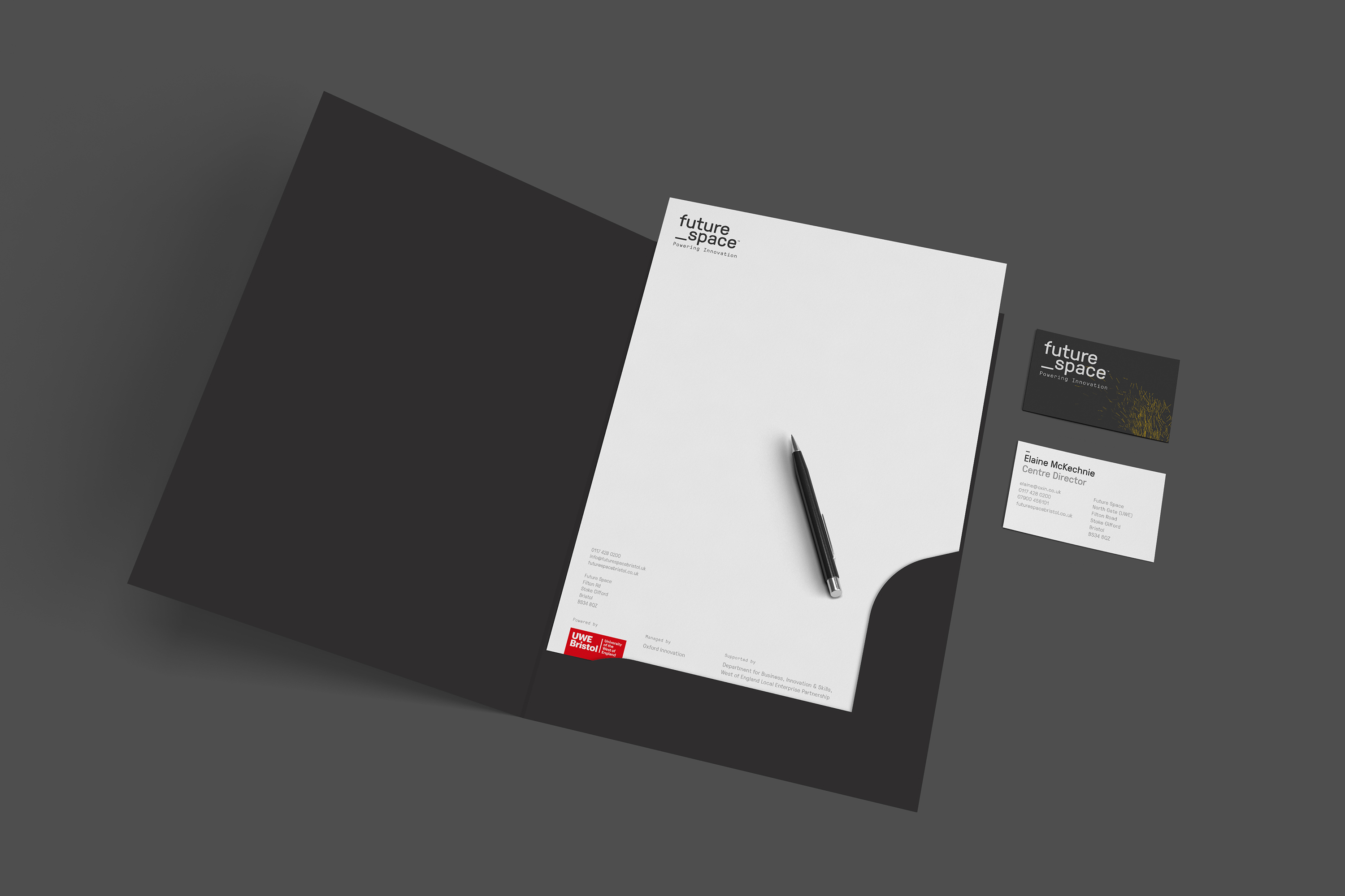 future space stationery design by Fiasco Design