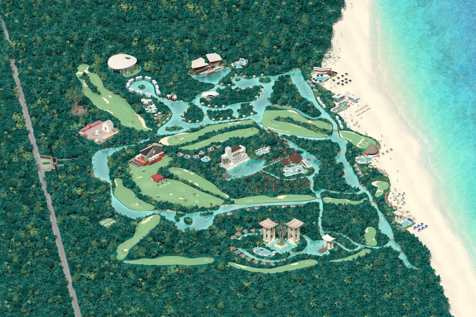 Digital illustration of Mayakoba map