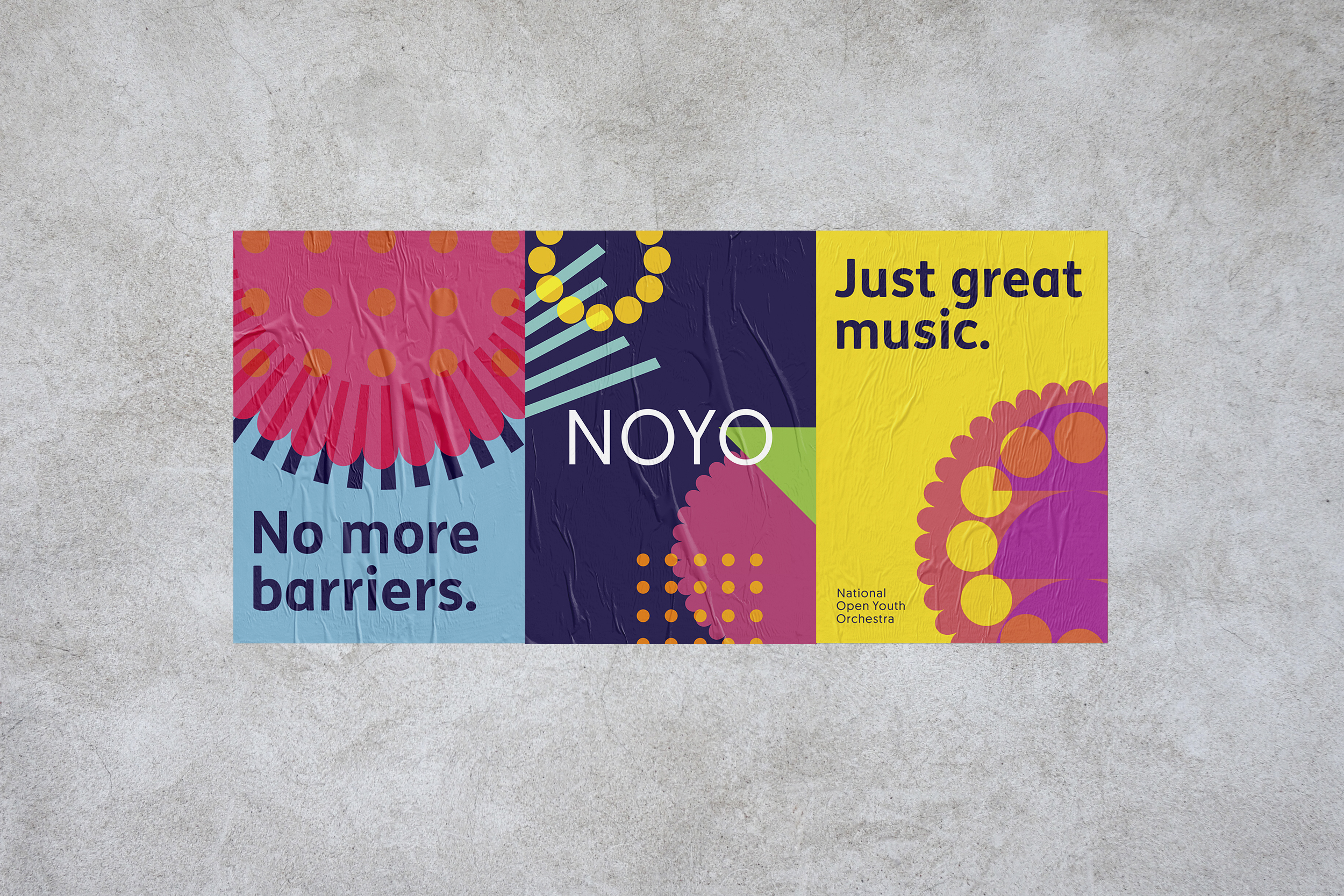 poster design for NOYO charity branding by Fiasco Design