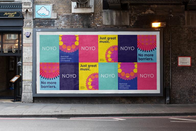 Billboard design for NOYO charity branding by Fiasco Design