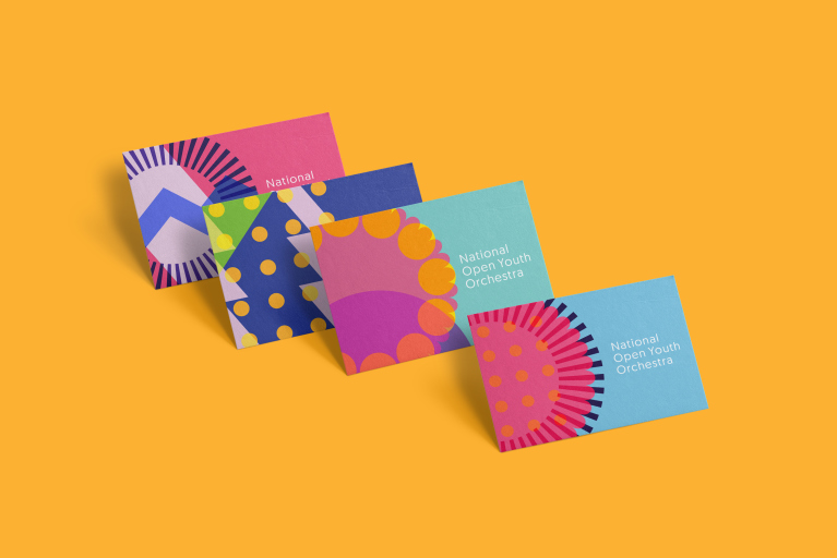 Business Cards for NOYO charity branding by Fiasco Design