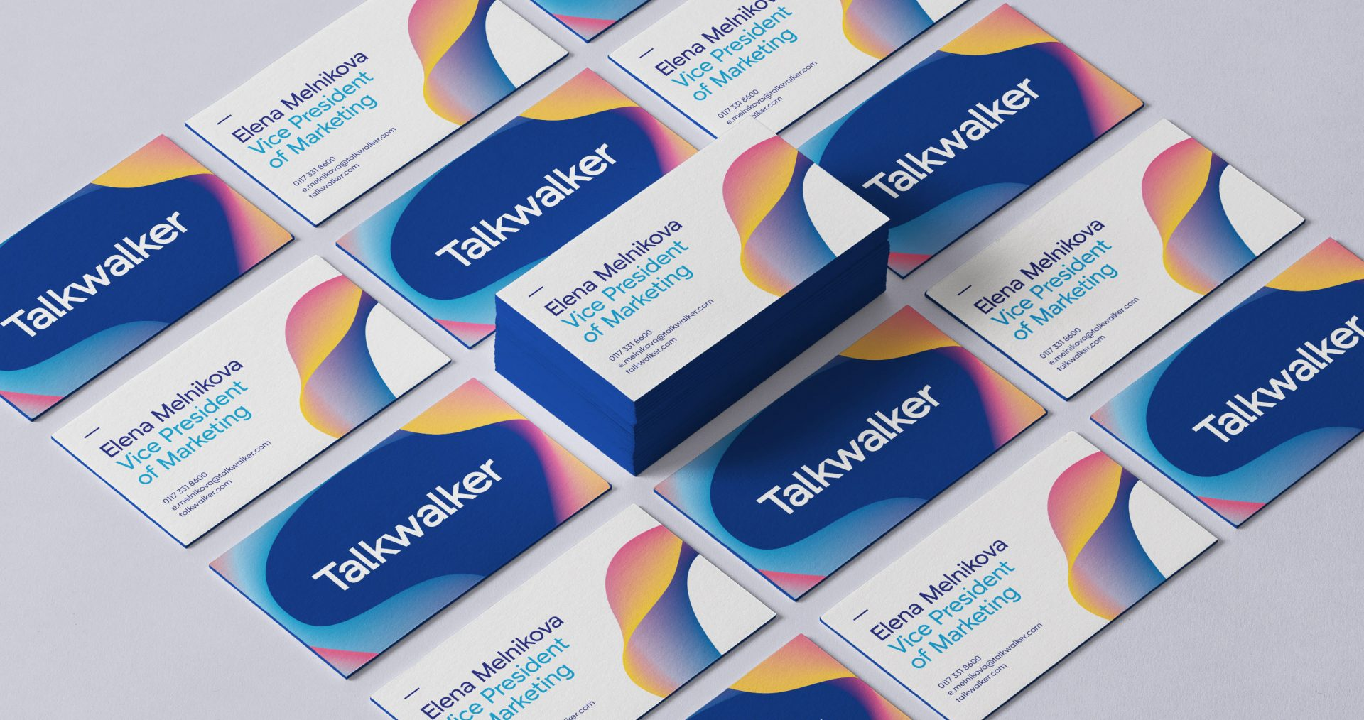 Talkwalker branding business cards