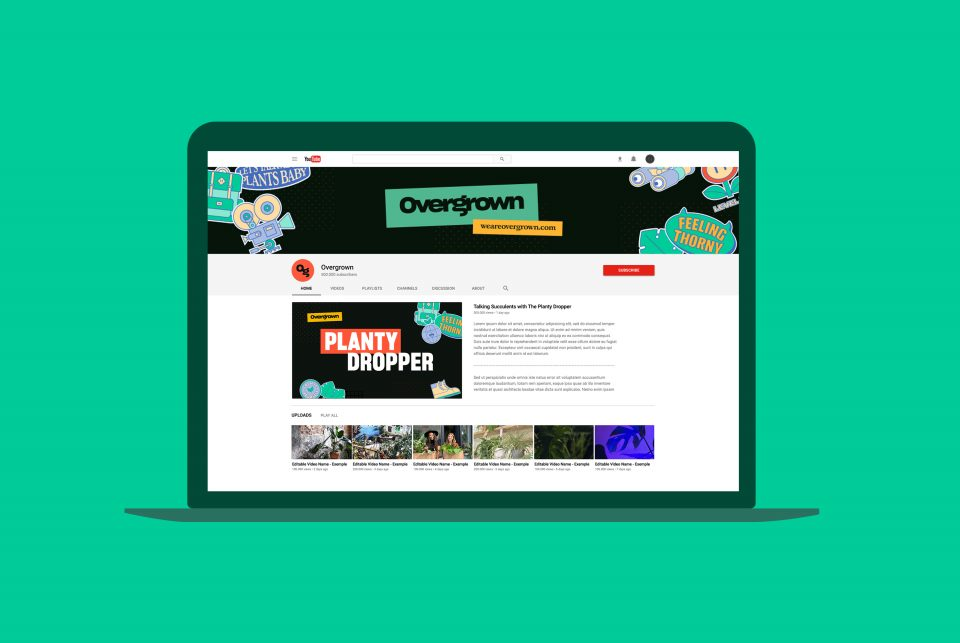 YouTube Channel Branding for Overgrown