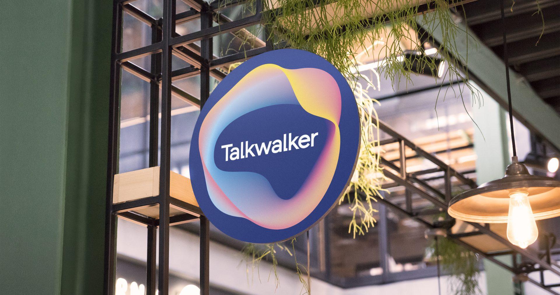 Talkwalker branding on sign