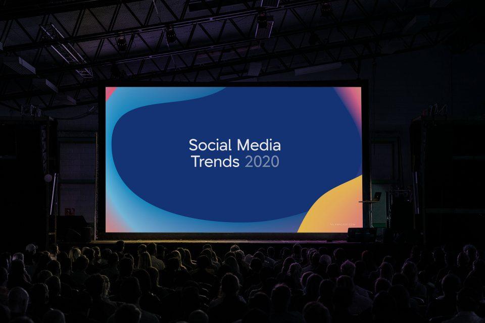 Talkwalker branding on presentation screen