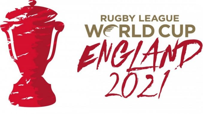 Logo for Rugby League World Cup 2021