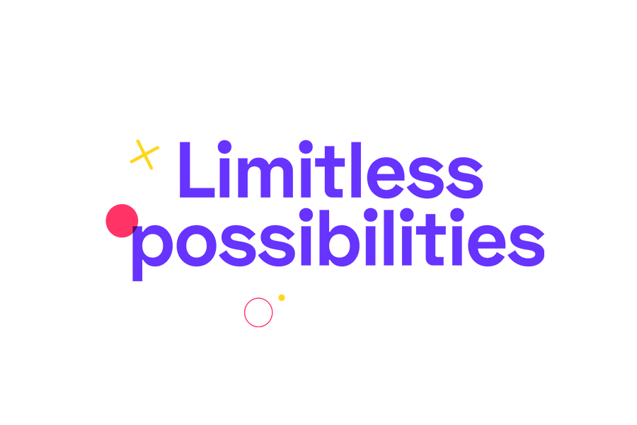 Coding Academy Branding for iO Academy by Fiasco Design – 'Limitless Possibilities' graphic