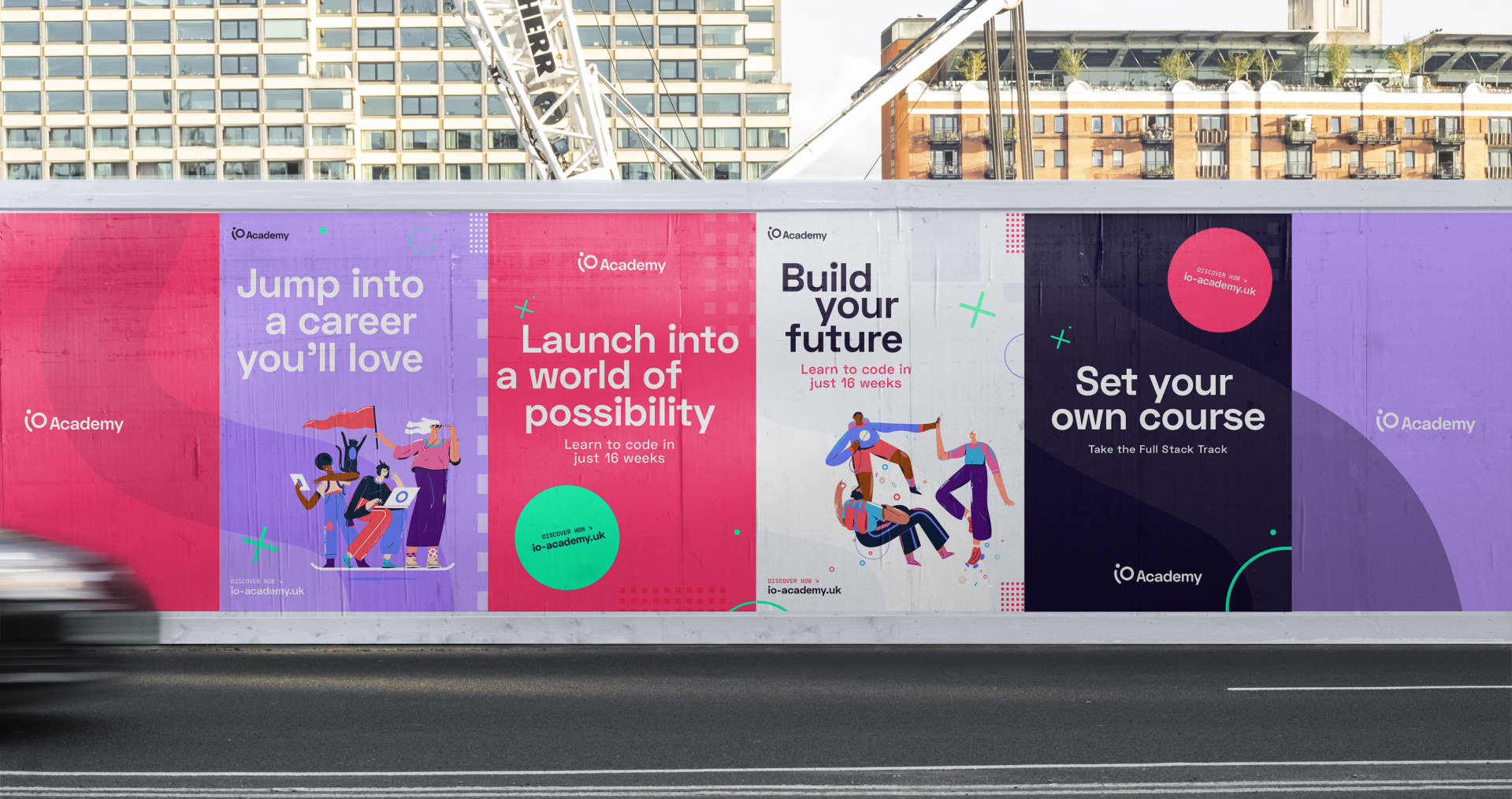 Hoardings designs for iO Academy campaign
