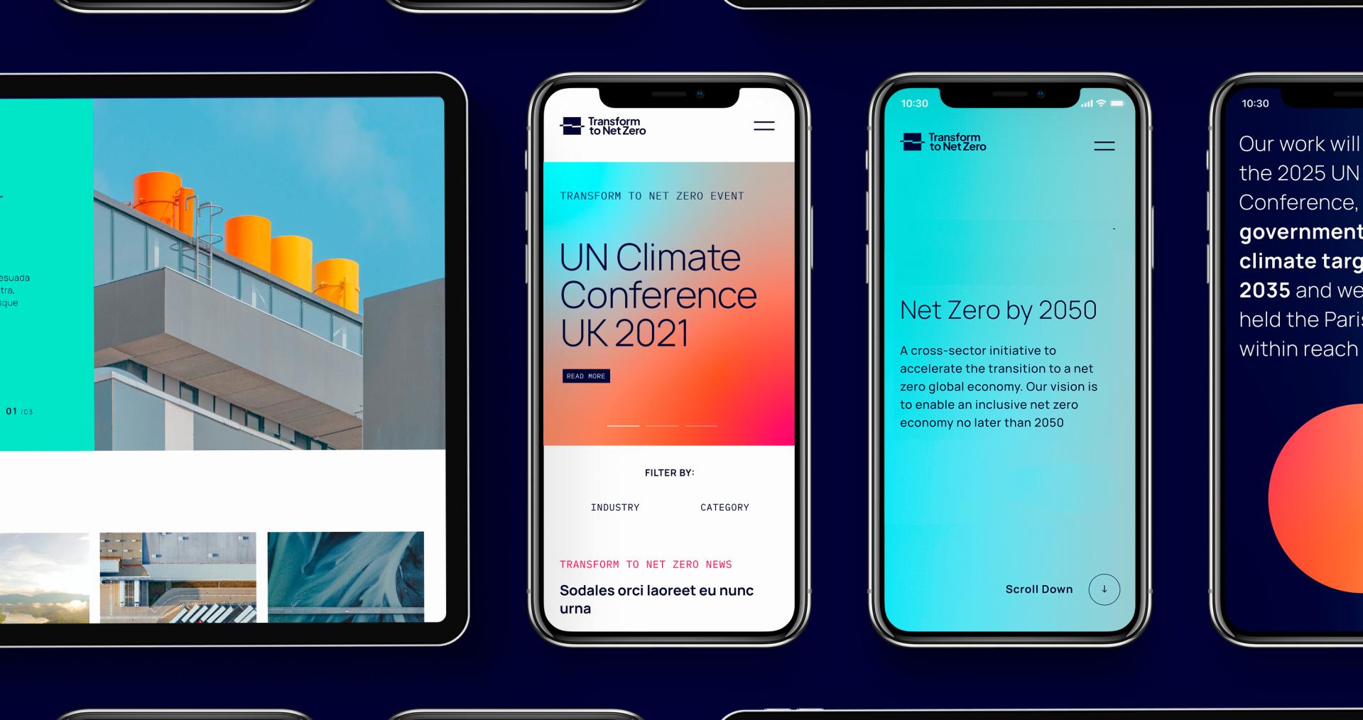 Transform To Net Zero - UI on mobile image