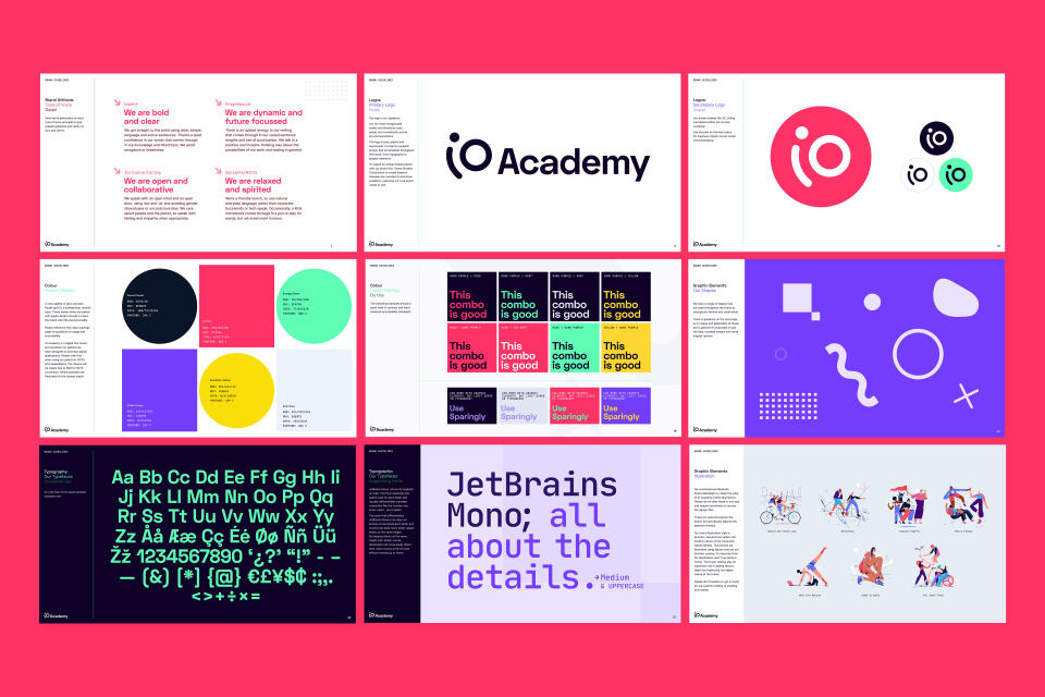 Brand guidelines for iO Academy